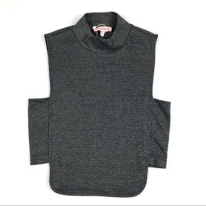 Re:named Mock Neck Crop Top Houndstooth Small